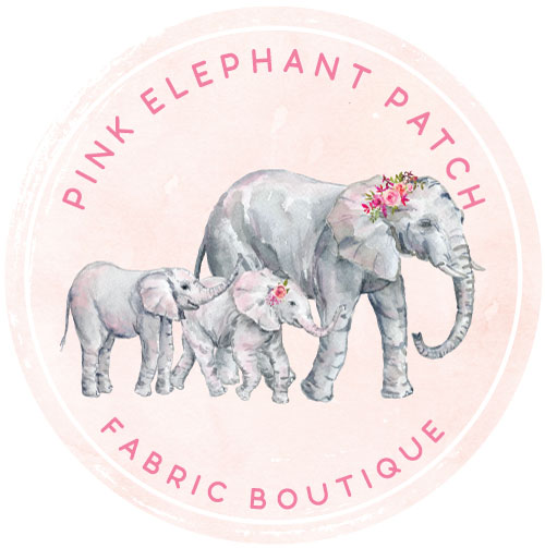 Pink Elephant Patch Fabric Boutique
